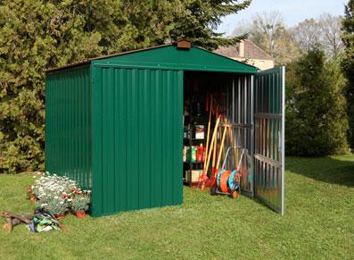 France abris abris de jardin en m tal bois pvc for Jardin couvert lyon